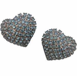 🇨🇦 Vintage crystal heart earrings
